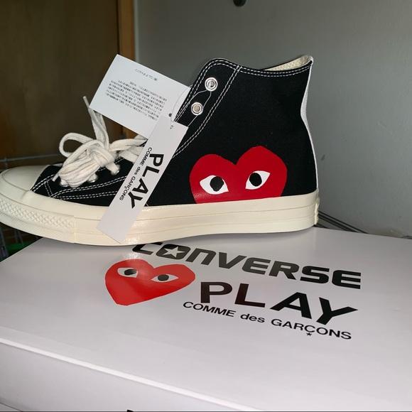 Difuminar ético estante  Comme des Garcons Shoes   Black Cdg Converse High Top   Poshmark